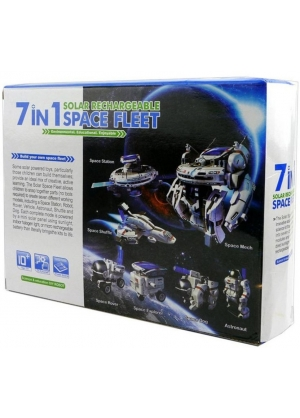 Robot  solar 7 IN 1 SPACE FLEET SOLAR RECHARGABLE-JUGUETE SOLAR