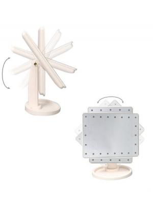 Espejo led de maquillaje cosmético-blanco