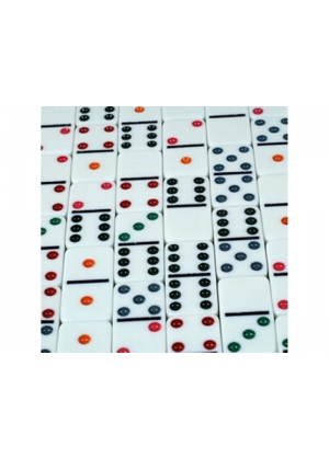 Set Dominoes Double 6 Color Dot