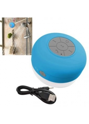 Parlante Bluetooth Resistente al Agua/Acuatico, para la Ducha - Celeste