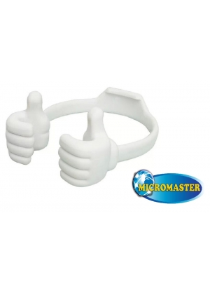 "HOLDER MANITO PARA CELULARES O TABLETS HASTA DE 7""-BLANCO"