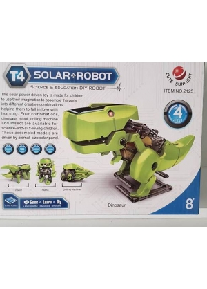 4 En 1 Kit Robot Educativo Solar Dinosaurio