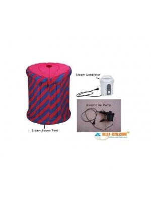 Micromaster - Sauna Portátil Inflable Con Vaporera Eléctrica Más Inflador